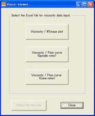 Viscosity data input softwareVisco-viewer